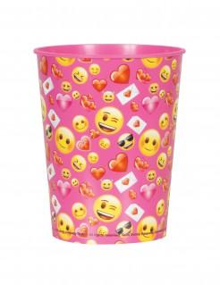 Emoji Kunststoffbecher pink-gelb 266ml