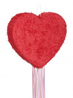 Valentinstag-Deko Herz-Pinata rot 56cm