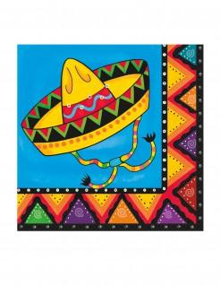 Mexiko Servietten Party-Deko 20 Stück bunt 33x33cm