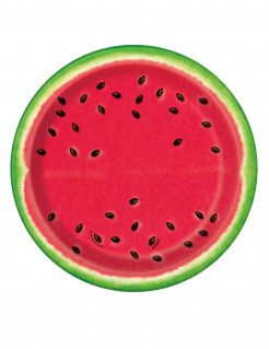 Kleine Platikteller Wassermelone 8 Stück