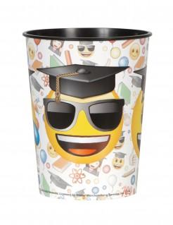 Emoji Kunststoff-Becher Party-Deko bunt 455ml