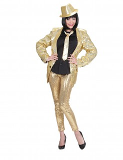 Elegante Pailletten-Leggings Partyleggings gold