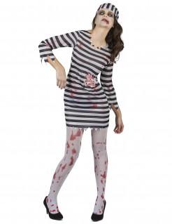 Zombiedamenkostüm für Sträflinge