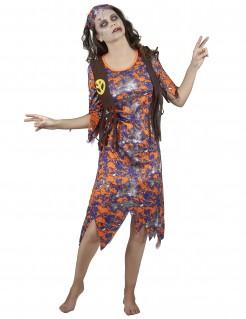 Zombie Hippie-Damenkostüm Halloween bunt