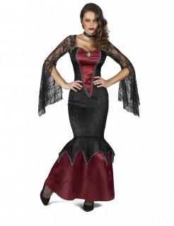 Gefährliche Schönheit Damenkostüm Horror-Frauenkostüm schwarz-rot