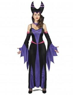 Magierin Damen-Kostüm schwarz-lila