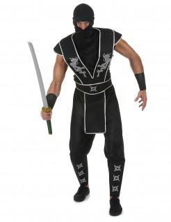 Kostüm Ninja Shuriken Stern für Herren schwarz-weiss