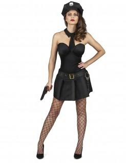 Sexy Damenkostüm Polizistin schwarz