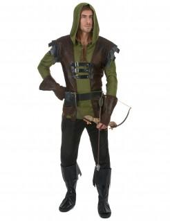 Kostüm Bogenschütze Mittelalter für Herren braun-grün