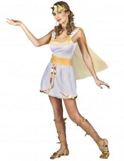 Griechische Göttin-Damenkostüm Antike weiss-gold