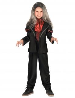 Graf Dracula Kinderkostüm Vampir schwarz-rot