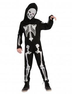 Skelett-Kinderkostüm Knochenmann schwarz-weiss