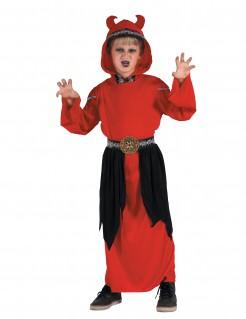 Dämon-Kinderkostüm Teufel rot-schwarz