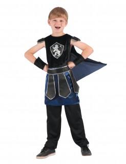 Ritter-Jungenkostüm Mittelalter schwarz-blau