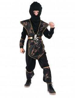 Kostüm Ninja für Jungen schwarz-gold