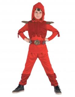 Kostüm Königs-Ninja für Jungen rot