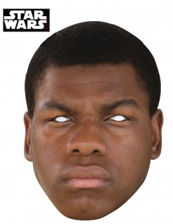 Karton-Maske Finn - Star Wars Erwachsene braun