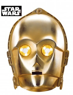 C -3 PO - Star Wars™ Science-Fiction-Film Karton-Erwachsenenmaske gold
