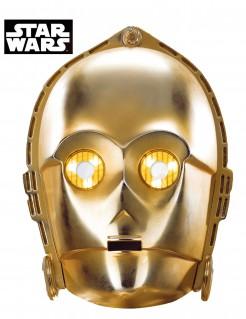 C -3 PO - Star Wars™ Science-Fiction-Film Karton-Erwachsenenmaske gold