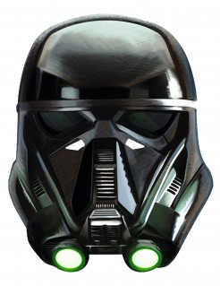 Death Trooper Karton-Erwachsenenmaske Star Wars Rogue One™ schwarz