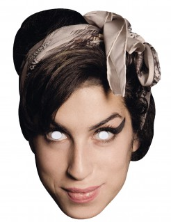 Amy Winehouse Kartonmaske bunt