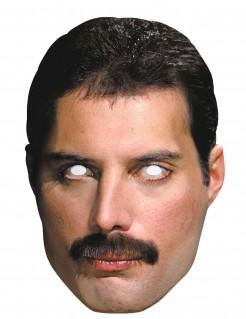 Erwachsenen Pappkarton-Maske Freddy Mercury beige