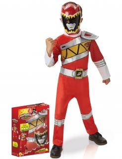 Offizielles Power Rangers™ Dino Charge Kinder-Kostümset rot-silber-gelb