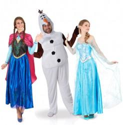 Eiskönigin™-Gruppenkostüm Karneval bunt