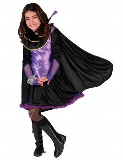 Vampir-Kinderkostümset für Mädchen schwarz-violett