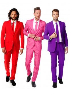 Opposuits™ Herrenanzug-Set 3-teilig rot-pink-violett