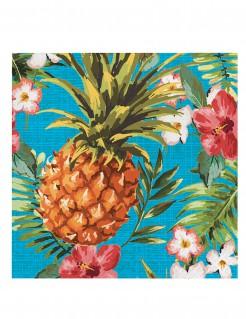 Hawaii Servietten Ananas Party-Deko 16 Stück bunt 33x33cm
