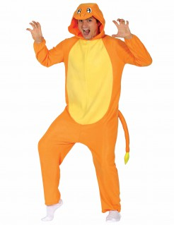 Lustiges Manga Monster Unisex-Kostüm Jumpsuit orange