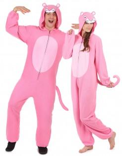 Panther-Paarkostüm Tierkostüm rosa