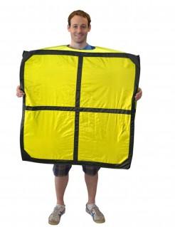 Tetris Lizenzkostüm Buchstabe O gelb