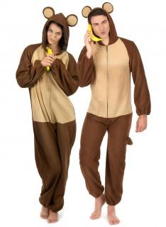 Affen-Paarkostüm Fasching braun