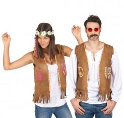 Hippie-Westen Paarkostüm für Erwachsene bunt