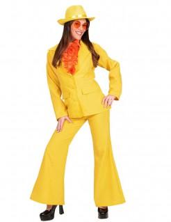 70er Jahre Damen-Kostüm gelb