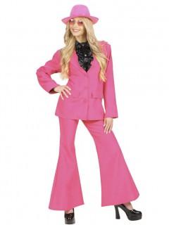 70er Jahre Damenkostüm Hosenanzug pink