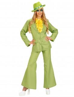 Disco-Damenkostüm Schlaghose grün