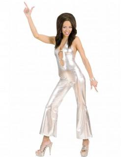 Disco-Kostüm für Damen silbern