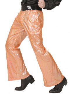 Holographische Disco-Herrenhose orange