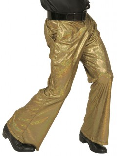 70er Disco Glitzer-Schlaghose Herren gold