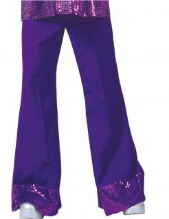 Herren Disco Hose mit Pailletten violett