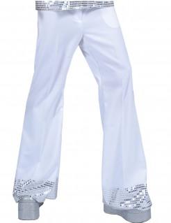 Paillettenreiche Männerhose fürs Tanzlokal - weiß