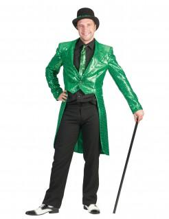Herrenkostüm Frack mit Pailletten grün
