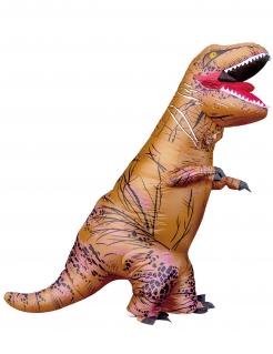 Aufblasbares T-Rex Unisex-Kostüm Dinosaurier braun