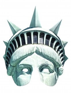 Kartonmaske Amerika Freiheitsstatue Kostümzubehör türkis-schwarz