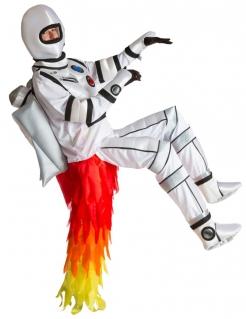 Lustiger Astronaut Carry-Me-Kostüm Raumfahrer weiss-rot