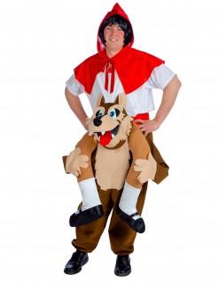 Rotkäppchen und der Wolf Carry Me Unisex-Kostüm rot-braun-weiss