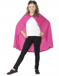 Prinzessinnen Umhang für Kinder Märchen rosa-gold
